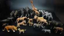 Original genuine wild life jungle zoo farm animals families sets collectible model kids toy for children gift