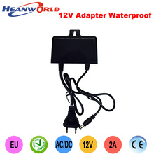 Waterproof Outdoor EU 12V 2A AC/DC Power Supply Adapter for CCTV Security Camera(China)