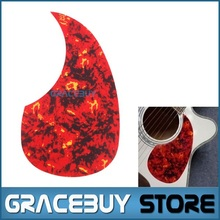 "40"" 41"" 42"" Acoustic Guitar Pickguard Pick Guard Size R64mm Red Flame Color - Alice A025I(China)"