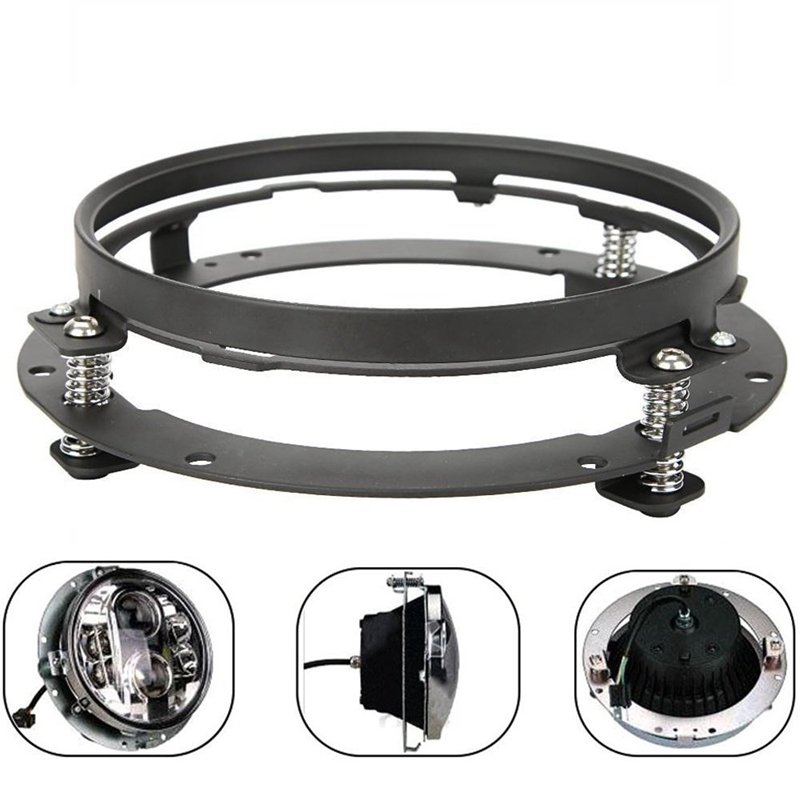 7 Inch Round Headlight Extension Ring Mounting Bracket For Harley Davidson Motocycle Jeep Wrangler Headllamp Mount