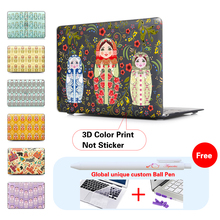 Russian Doll Matte Frosted Laptop Bag Case For Macbook Air 13 Case Pro 13.3 12 Retina 13 15 Inch free Keyboard Cover + ball pen