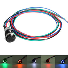 12V 3A 16mm Unlock On-Off Sport Mode LED Push Button Switch For BMW /E60 5 Series White Red Orange Blue Green