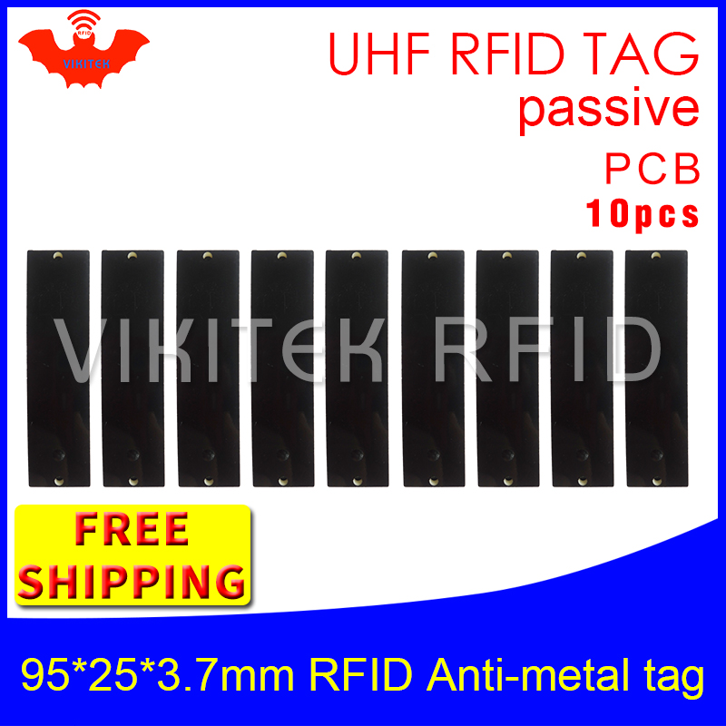 UHF RFID metal tag 915mhz 868mhz Alien Higgs3 EPC 5pcs free shipping 95*25*3.7mm long-range rectangle PCB smart passive RFID tag<br>