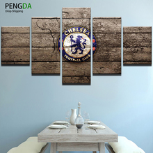 PENGDA Canvas Painting HD Printed Room Decor Painting Canvas Wall Art Frame 5 Panel Sports Football Picture Home Wall Decoration