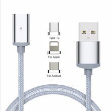 Micro USB/Type C/IOS Magnetic Adapter Fast Charging Cable Data Sync Charger Cable iPhone X 8 7 Plus Samsung S9+ S8 S7 S6