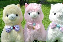 Classic Alpaca  Familiy 45cm Japanese Alpacasso Soft Toys Doll Giant Stuffed Animals Girlfriend Kids Bowtie Christmas Gift