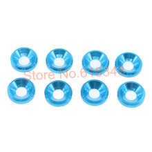8pcs/Lot HSP 02164 4x10x2mm M4 Aluminum Washer Alloy Flat Cone Cup Head Screw Gasket For 1/10 RC Model Car Baja Parts