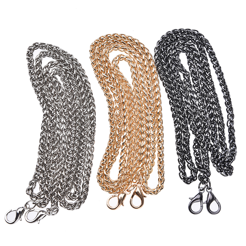 1PC 120CM DIY Strap Chain Hight Quality Bag Hardware Purse Chain Strap Bag Chain Handbag Replacement Bags Accessories