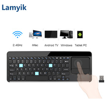 Utra-thin 2.4 Ghz Wireless Keyboard Touchpad with Mouse Combo QWERTY Clavier Azerty Klavye for Android Windows PC TV Laptop RF