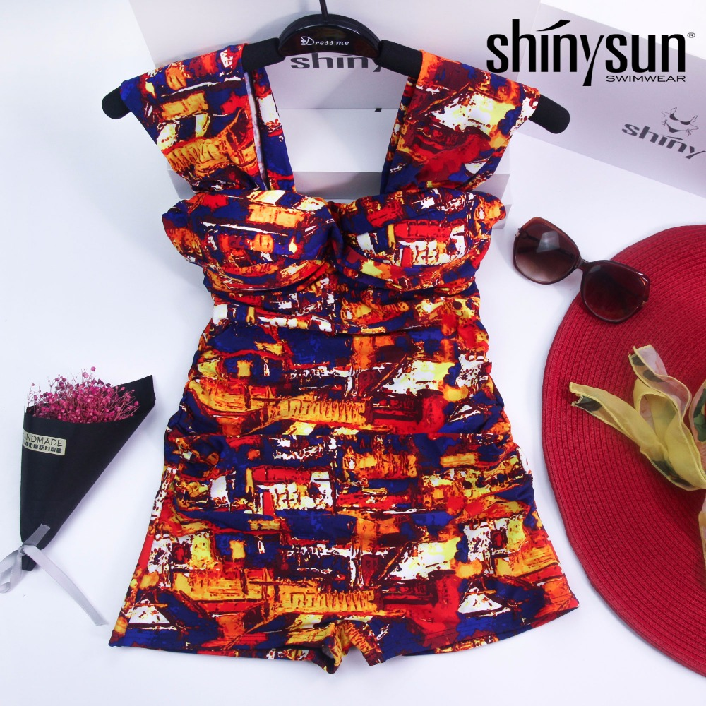 Shinysun New Colorful Sexy Fashion Printd Swimwear Women One Piece Swimsuit Bathing Suit Swim Wear Beach swimwear one-piece <br>
