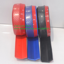 Free Shipping 2.5m Carbon Fiber Car Front Bumper Lip Splitter Spoiler Chin Lip Skirt Protector With cleaner and stitcker(China)