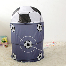 Football Basketball Modeling Collapsible Laundry Basket Storage Barrels Storage Barrel Polyester Cloth Toy Store(China)