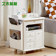 Paulownia wood simple bedside lockers Japanese sofa cabinet coffee corner cabinet side cabinets Storage Boxe(China)