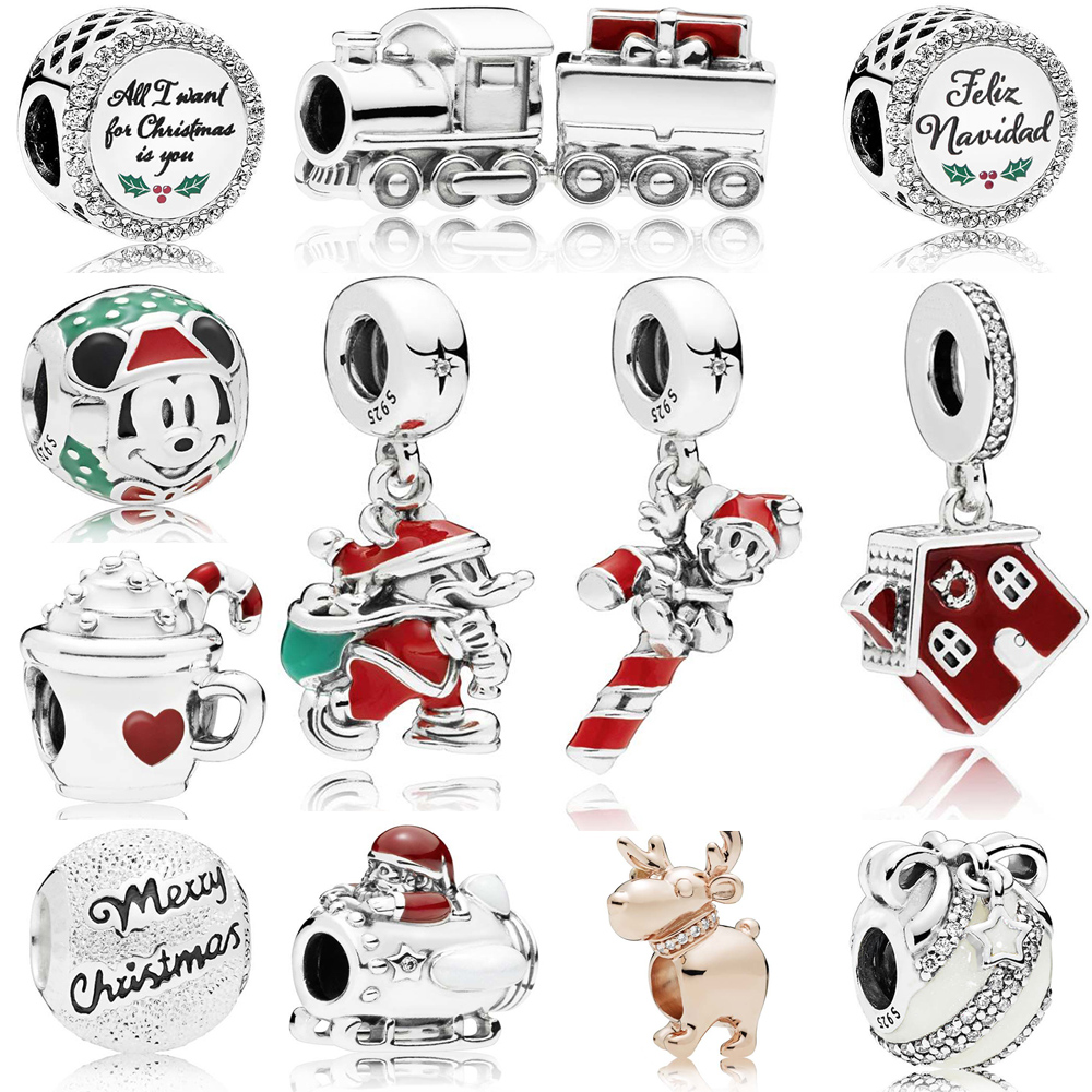 Beads & Jewelry Making Radiant Hearts Warm Cocoa Fireworks Christmas Charm Bead Fit Pandora Bracelet Bangle Authentic 925 Sterling Silve Jewelry Professional Design Jewelry & Accessories
