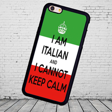 italian can t keep calm cell soft skin shell  case for Samsung S3 S4 S5 S6 S7 S8 edge Note2 3 4 5 Mobile cell phone bags