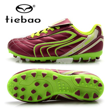 TIEBAO Professional Kids Football Shoes Outdoor Sports AG Soles Soccer Boots Children Training Shoes Sneakers EU Size 30-38
