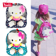 Dots Cute Hello Kitty Backpacks for Children Cartoon Kindergarten Kids Schoolbag Students Daypacks for Girls