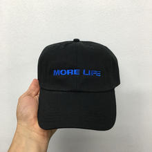Aubrey Drake Graham Latest Album MORE LIFE Hat Exclusive Release Women and Men Dad Hat Quality Embroidery Baseball Cap Blue Font(China)