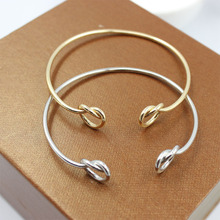Peach heart knot bracelet Minimalist openings bracelet joker fashion wholesale women's clothing accessories manufacturer(China)