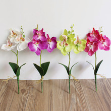 Triple Head orchid artificial flowers DIY Artificial Butterfly Orchid Silk Fake Flowers Wedding Home Decoration yapay cicek #555