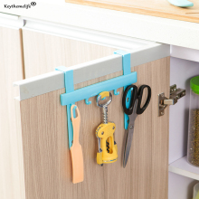 Keythemelife Plastic Storage Rack Kitchen Cupboard Door Hook Back Style Single Bar Towel Rack Hook Up Hanging 2E(China)
