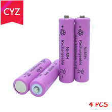 4X 1.2V AAA aaa 3A 7# NI-MH Battery 1600mAh Rechargeable batteries batteria Digital Batteries camera toys - Cai Yuan Zi Store store