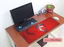 msi mouse pad 800x300mm pad to mouse notbook computer mousepad Mass pattern gaming padmouse gamer to large keyboard mouse mats(China)