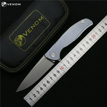 VENOM Kevin John Icebreaker F95 Flipper folding knife S35VN blade TC4 Titanium camping hunting pocket fruit knives EDC tools