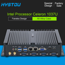 HYSTOU Industrial PC Mini 1037U 2*NIC Dual LAN Fanless Design All Alloy Case 2*RS232 COM Ports USB 3.0 Fanless Mini PC Barebone