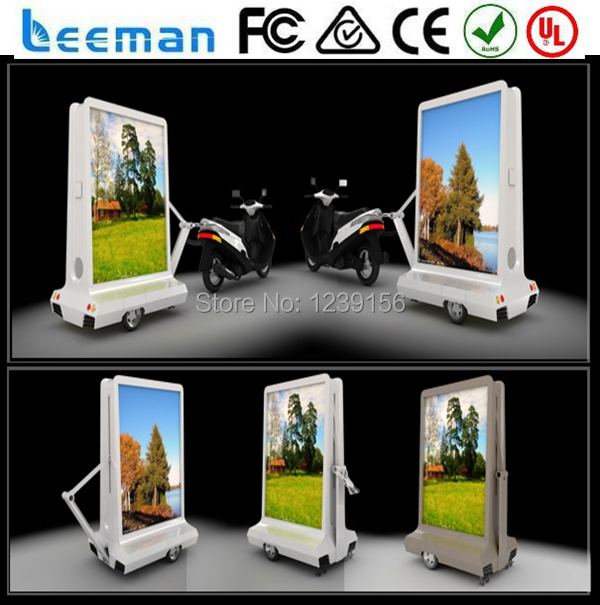 2015 Leeman innovative new design products outdoor 3X1m, 3X2m flexible truck mobile advertising led display(China (Mainland))