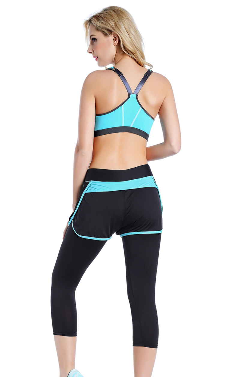 Women Zipper Front Yoga Shirts for Running Gym Fitness Comfortable Sport Bra Crop Tops Double Layers Bra for Woman (7)