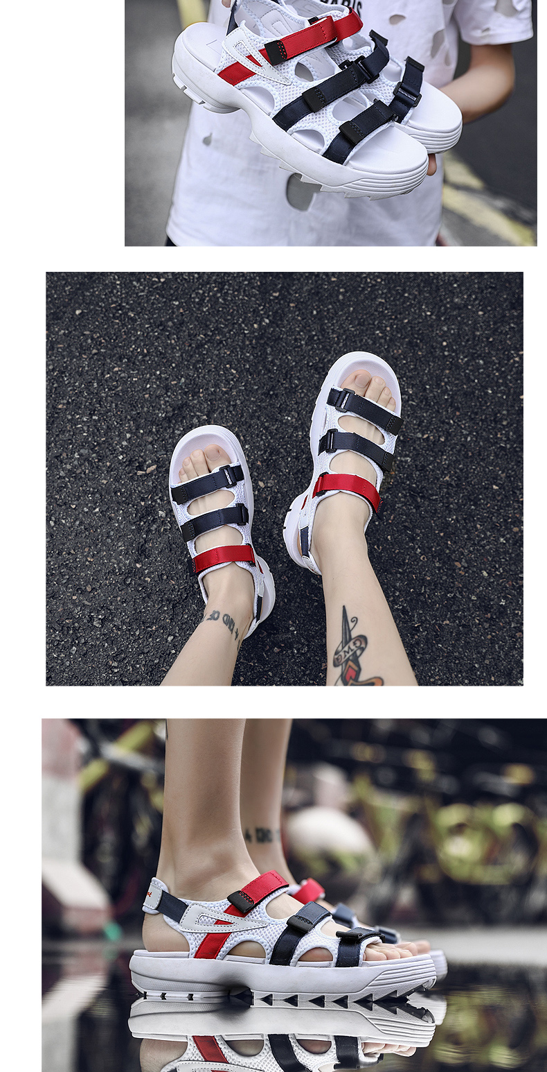 Sandals Men's Beach Shoes Summer Sports Korean Version Of The Trend Increase Big Sandals And Slippers Summer Boys Tide 23 Online shopping Bangladesh