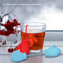 Christmas Gloves Tea Bag Strainer Silica Gel Infuser Filter Home Teaspoon Tea Device TB Sale(China)