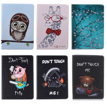 giraffe Van Gogh Painted Flip PU Leather Cover Case For iPad Pro 9.7'' Sleeve Case For Apple iPad air 1 2 3 ipad 7 6 5 4 3 2 #M