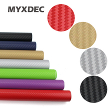 127*30CM 3D Carbon Fiber Vinyl Car Wrapping Foil Carbon Fiber Car Decoration Sticker Many Color Option Car Styling Decoration(China)