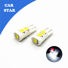 2X T10 W5W 194 168 5SMD 5050 23mm Ceramic Housing Car LED Lamps Instrument Lights Side Wedge Tail Bulbs for mazda 3  mazda cx-5