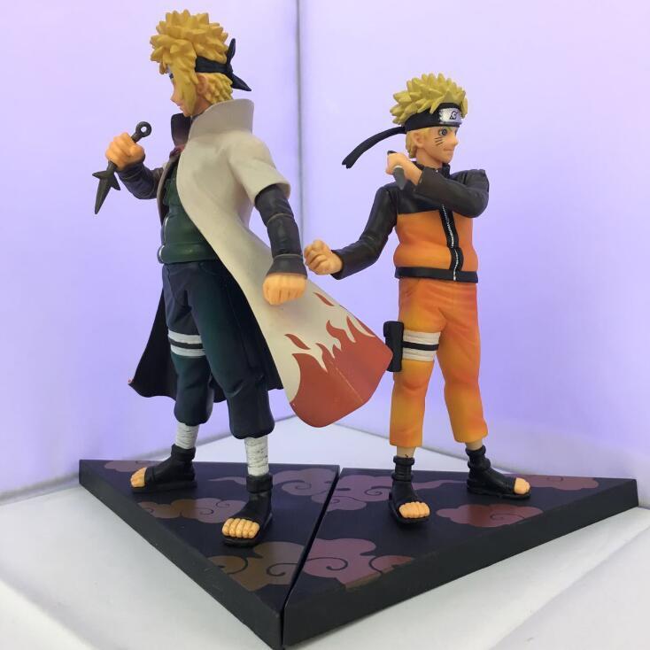 Anime Naruto Action Figures Japanese Figure Naruto &amp; Namikaze Minato Movie Figure DXF PVC Figurine Toys Naruto Anime<br><br>Aliexpress