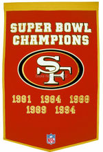 San Francisco 49ers Super Bowl Champions Hockey Banner Flag Polyester grommets 3' x 5' Custom metal holes Baseball Football Flag(China)