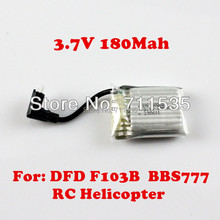 3.7V 180MAH Upgrade Lithium Battery Accessories Spare Part For DFD AVATAR F103B BBS777 4Ch LED Infared RC Helicopter Toy(China)