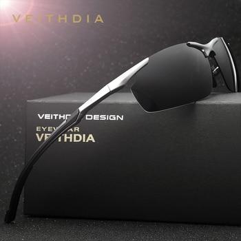 VEITHDIA Aluminum Magnesium Men's Sun Glasses Polarized Sports Driving Sun Glasses oculos Male Eyewear Sunglasses For Men 6592