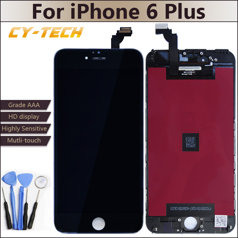High Quality No Dead Pixel LCD For iPhone 6 Plus Display Touch Screen Assembly With Digitizer Frame 5.5 inches White Black Gift<br><br>Aliexpress