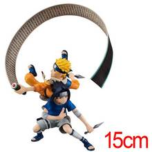 C&F Animation Naruto Anime Action Figure Toys Uzumaki Naruto Uchiha Sasuke Fight PVC Model Collectible Figures Toys(China)