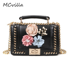 Hot Rive Flower Women Bag Designer Artificial Leather Fashion Courier Bags Ladies Inclined Shoulder Bag Brand Mcvilla(China)