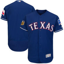 MLB Men's Texas Rangers Baseball Royal 2017 Spring Training Authentic Flex Base Team Jersey(China)