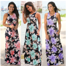 Buy plus size Women clothing Summer Vintage print Sundress 2017 Long Maxi Beach tunic Dress sleeveless Boho Dresses Sexy Robe Femme for $14.26 in AliExpress store
