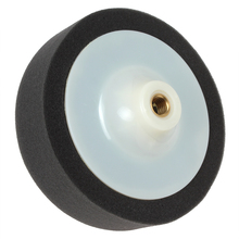 High Quality Black 14mm Screw Diameter Polyester Soft Puffing Pad Wheel Imported polyester & plastic for Car Waxing & Polishing(China)
