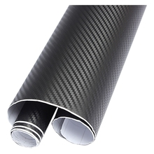AUTO DIY 30x127 3D Carbon Fiber Decal Vinyl Film Wrap Roll Adhesive Car Sticker Sheet Black