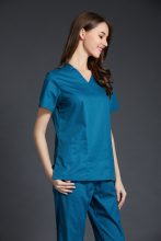 Medical Scrubs Women 2017 New Color Women's Short Sleeve Medical Scrub Uniforms Set Dental Hospital Clothes Doctor's Surgical(China)