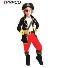 TPRPCO Christmas costumes children cosplay halloween costume role children party clothes pirate costume kids E30123(China)