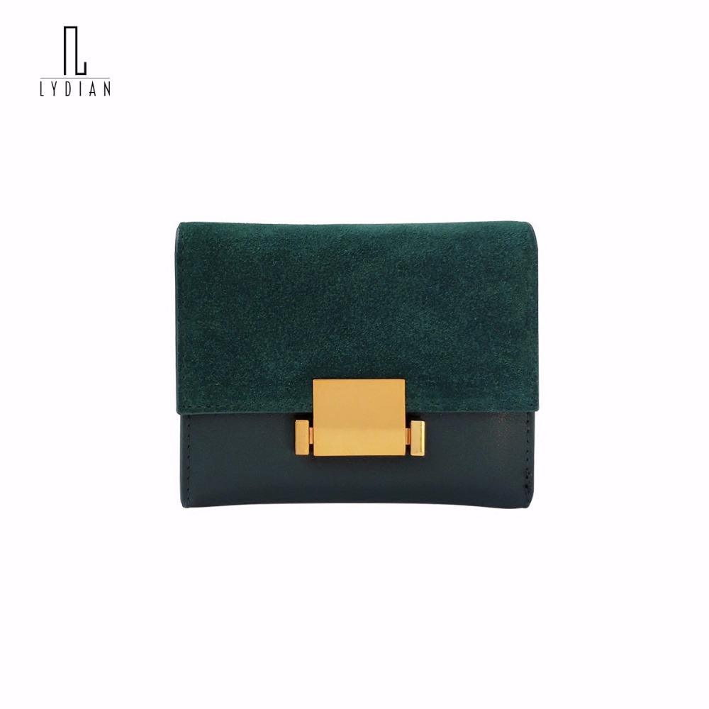 Lydian 2017 Europe Style Vintage Wallet Female Short Leather Purses New Famous Matte Decoration Small Wallet Woman 2 Flod Clutch<br>